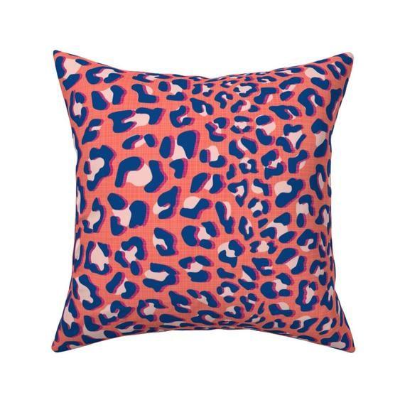 Animal Print Throw Pillow – Fur-ociouse  by nanshizzle – Safari Cat  Wild Jungle Cheetah Leopard 18″