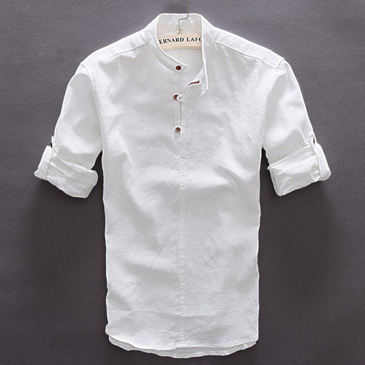 Новый 2017 мужские рубашки мода твердые белое белье с длинным рукавом воротник рубашки сорочка Homme камиза masculina плюс Азии размер М-XXXL