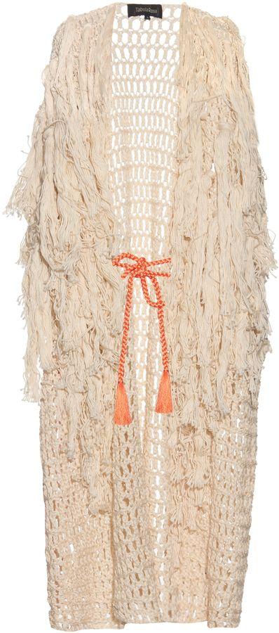 TABULA RASA Idris fringed knit cover-up