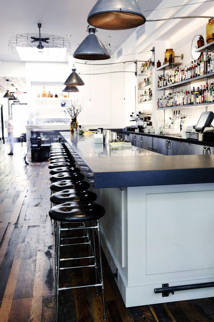 via  No.246 | Smith Hanes. restaurant interior detail, bar