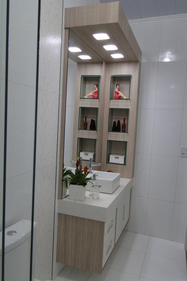 25+ best ideas about Armario De Banheiro Planejado on Pinterest  Decoração b # Banheiro Planejado Pia
