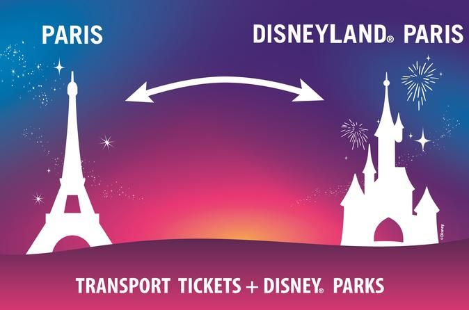 """Disneyland Paris One Park Entrance Ticket with Round-Trip Train from Paris Return transport by train from Paris to Disneyland® Paris + ticket 1 Park (Disneyland® Paris or Walt Disney Studios®) for one day.This is the most convenient and flexible package to Disneyland® Paris. Disneyland® Paris is located in the East of Paris and is directly accessible from Paris City Centre with trains (RER A) to """"Marne La Vallée Chessy"""" station (about 40 minutes by t..."""