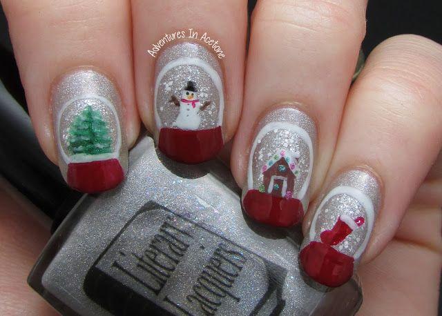 Snow Globe Nail Art!