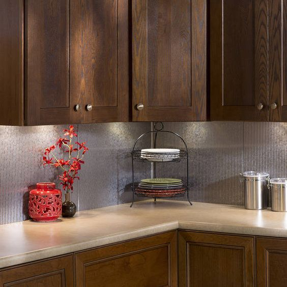 Ordinary Fasade Backsplash Ideas Part - 12: Fasade Rib Backsplash In Galvanized Steel 18-square-foot Kit