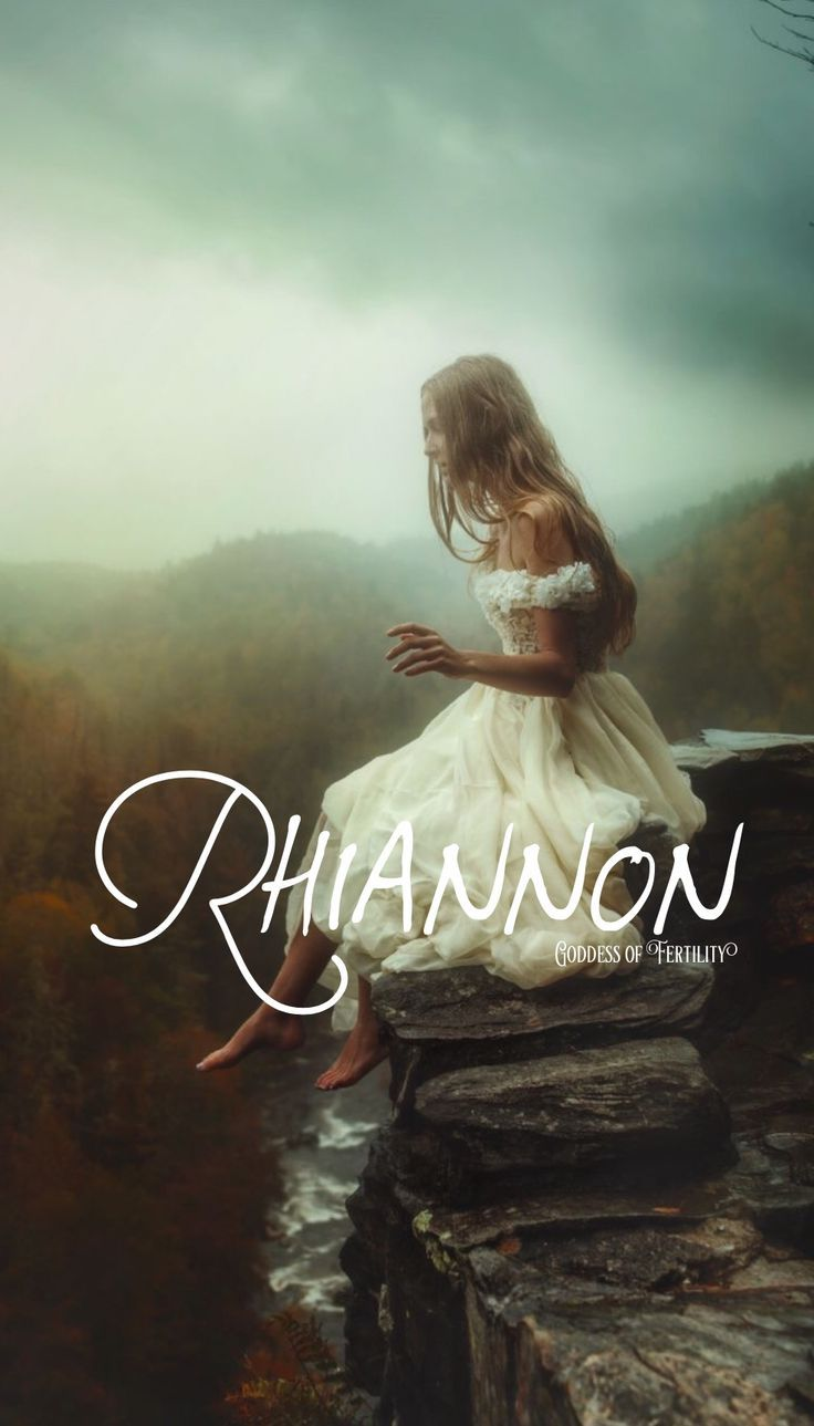 Rhiannon, meaning Goddess of Fertility, mystical, beautiful, shape shift into a mythical white horse, Celtic names, welsh names, R baby girl names, R baby names, female names, feminine names, whimsical baby names, baby girl names, traditional names, names that start with R, strong baby names, unique baby names, ttc , middle names,