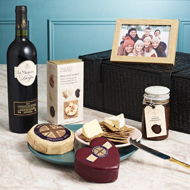 Helen's Hampers Cheese And Wine Hamper   Hilary Rhodes on WeShop