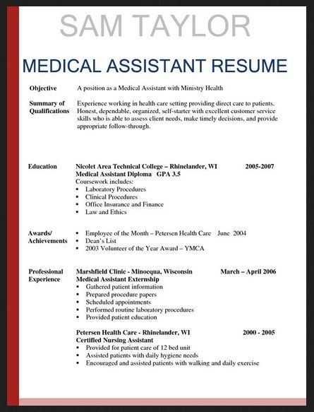 Samples Executive Resumes Check more at   - medical assistant resume template free