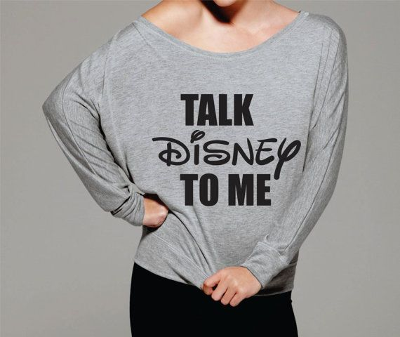 Talk Disney To me over the shoulder shirt. by Lollipopclothing