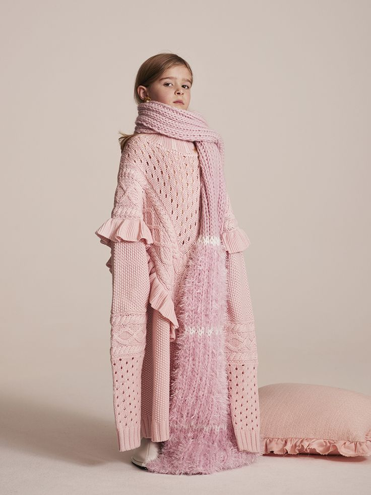 """""""I love what millenials have done with pink"""" Elsie, 5 Photographed by Toby Coulson. #motherofpearl #pearlyqueens #playdressup #oversized"""