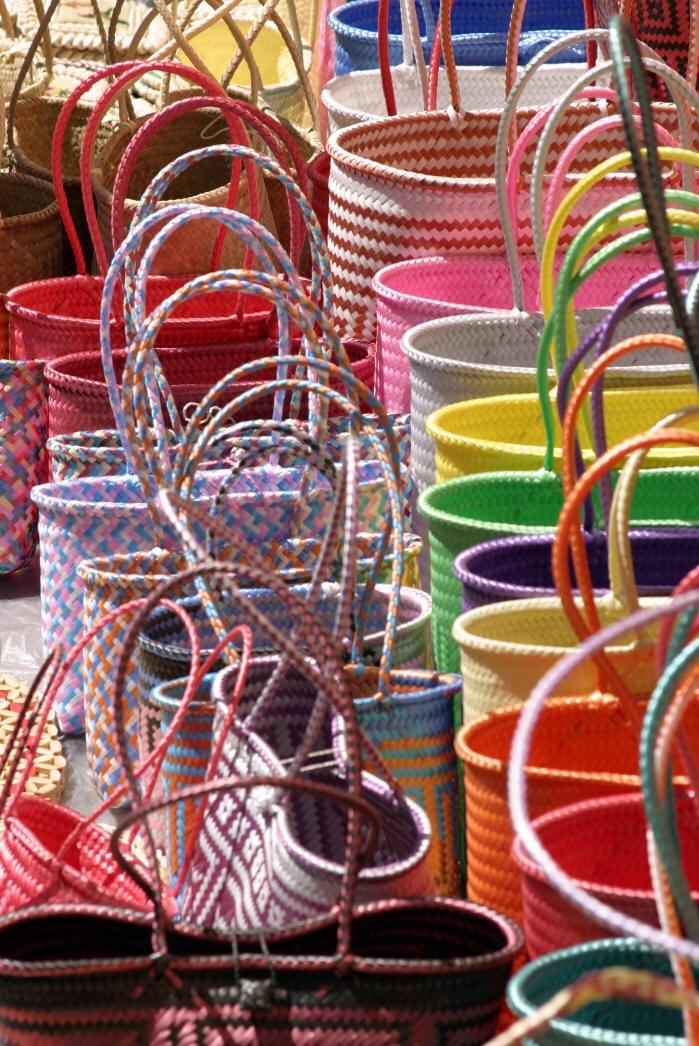 Shopping baskets at the Tonala, Jalisco Market.