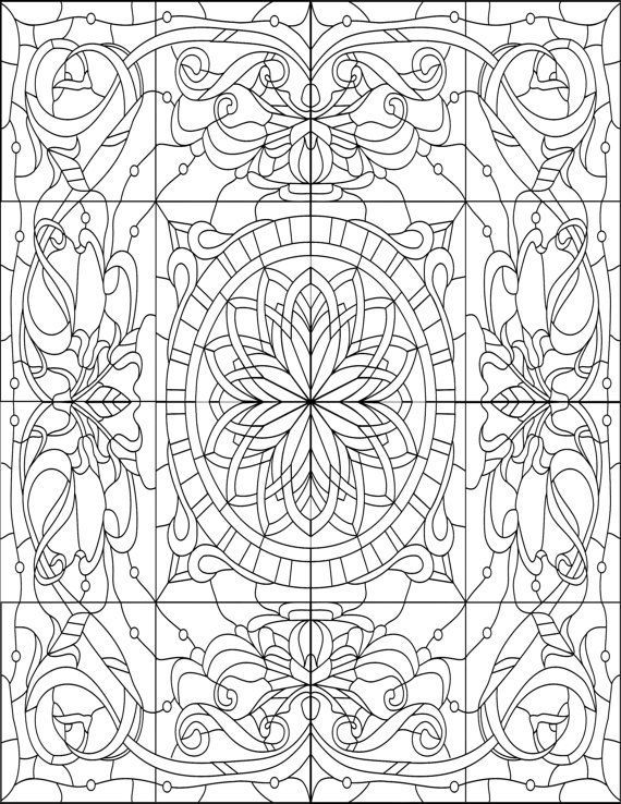 Adult Coloring Book, Printable Coloring Pages, Coloring Pages, Geometric, Coloring Book for Adults, Instant Download STAINED GLASS - http://designkids.info/adult-coloring-book-printable-coloring-pages-coloring-pages-geometric-coloring-book-for-adults-instant-download-stained-glass.html  #designkids #coloringpages #kidsdesign #kids #design #coloring #page #room #kidsroom