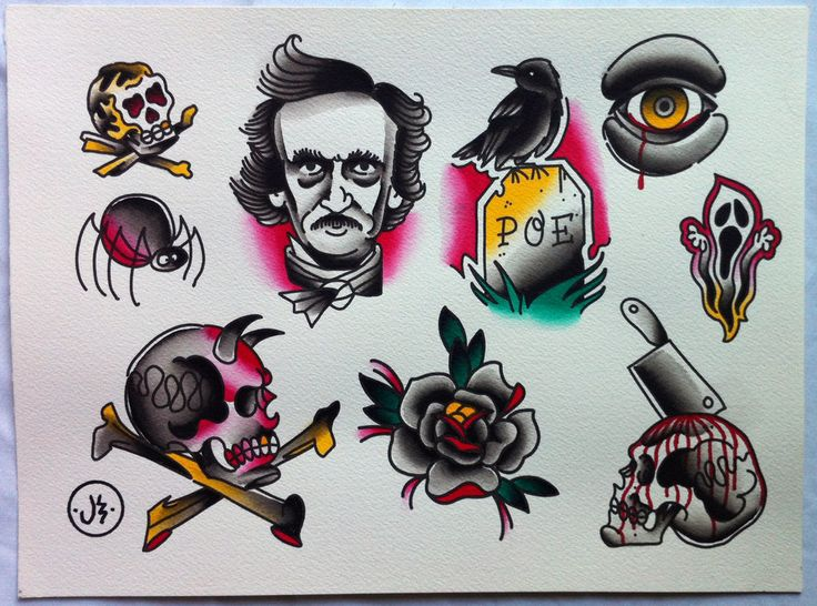 edgar allen poe tattoo - Google Search