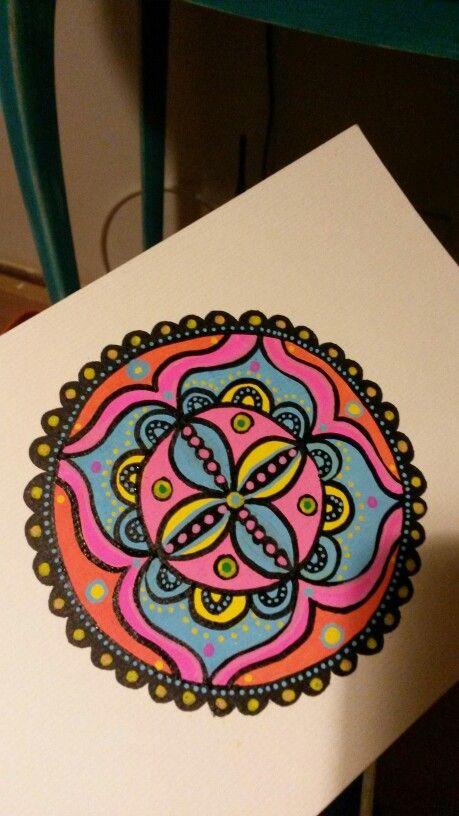 Mandala pintado a mano