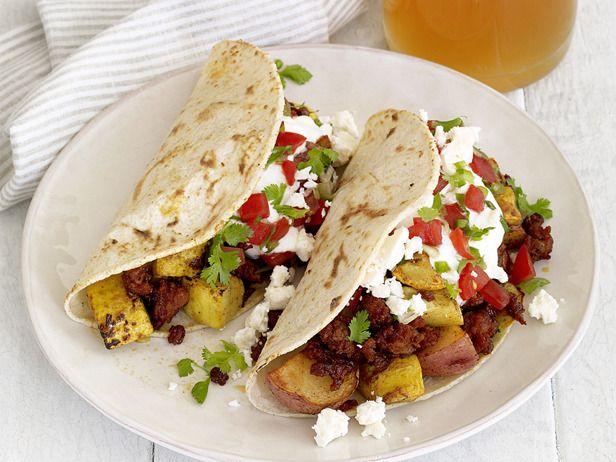 Chorizo-Potato Tacos >> I love potatoes in my tacos/burritos! These ...
