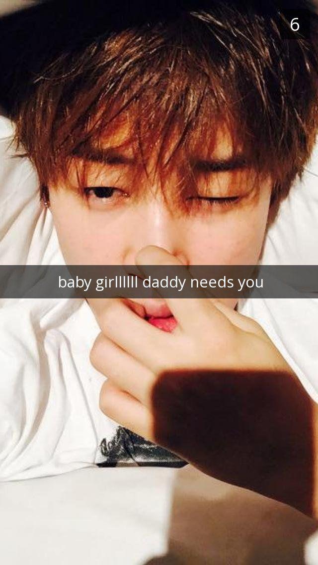 BTS Park Jimin fake snapchat message