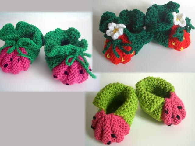 Knitting Essentials For Baby : Berry cute frutie booties knitting essentials