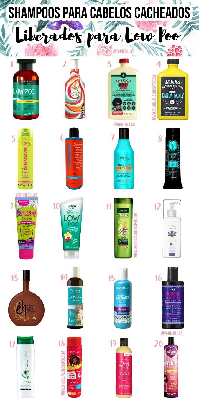 20 shampoos para cabelos cacheados, sem sulfato, liberados para low poo.