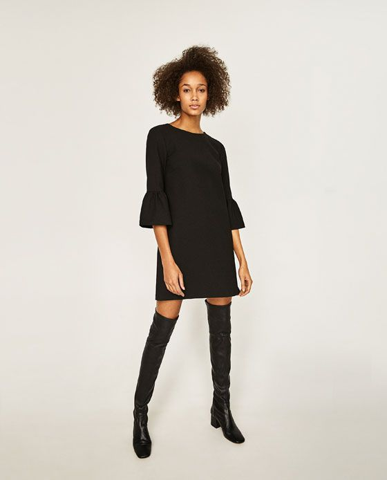 Image 1 of DRESS WITH FRILLED SLEEVES from Zara