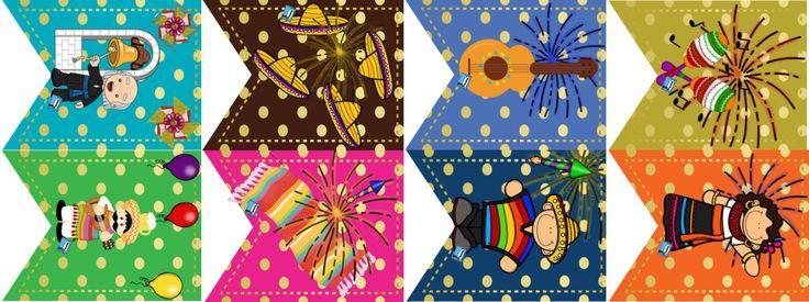Agradecemos al profesor Ricardo García por diseñar y compartir estos fabulosos banderines para celebrar el mes patrio y adornar nuestro