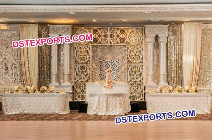 #Roman #Pillar #Wedding #Reception #Stage #setup #Dstexports