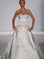 Bridal Gowns: Platinum for Priscilla of Boston Princess/Ball Gown Wedding Dress with Strapless Neckline and Dropped Waist Waistline :  fantasy bridal priscilla of boston kleinfeld