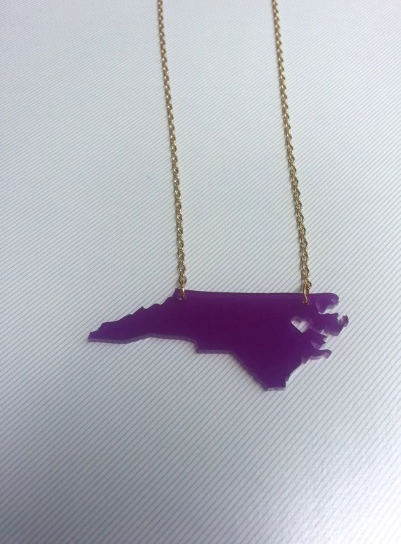 wish i had this for this weekend's game vs NCSTATE! ECU Necklace Heart over Greenville North by KellyAndPavelDesign