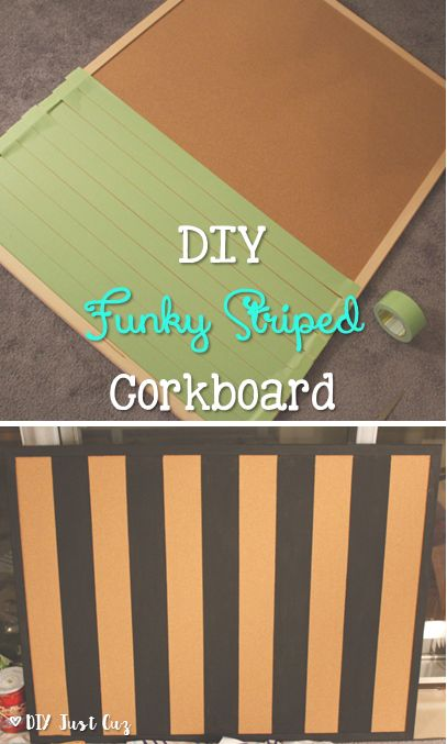 A corkboard is great but a painted corkboard is better! This tutorial shows how to create your own painted corkboard. @diyjustcuz