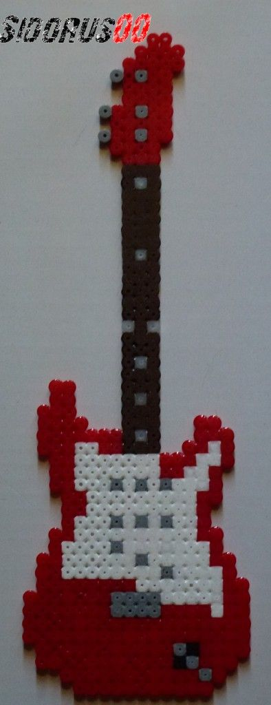 Electric Guitar Perler beads hama by Sidorus00 H= 27 cm L= 9 cm