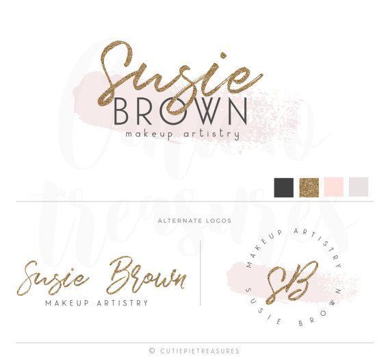 Branding kit premade makeup artist logo fancy by CutiexoTreasures