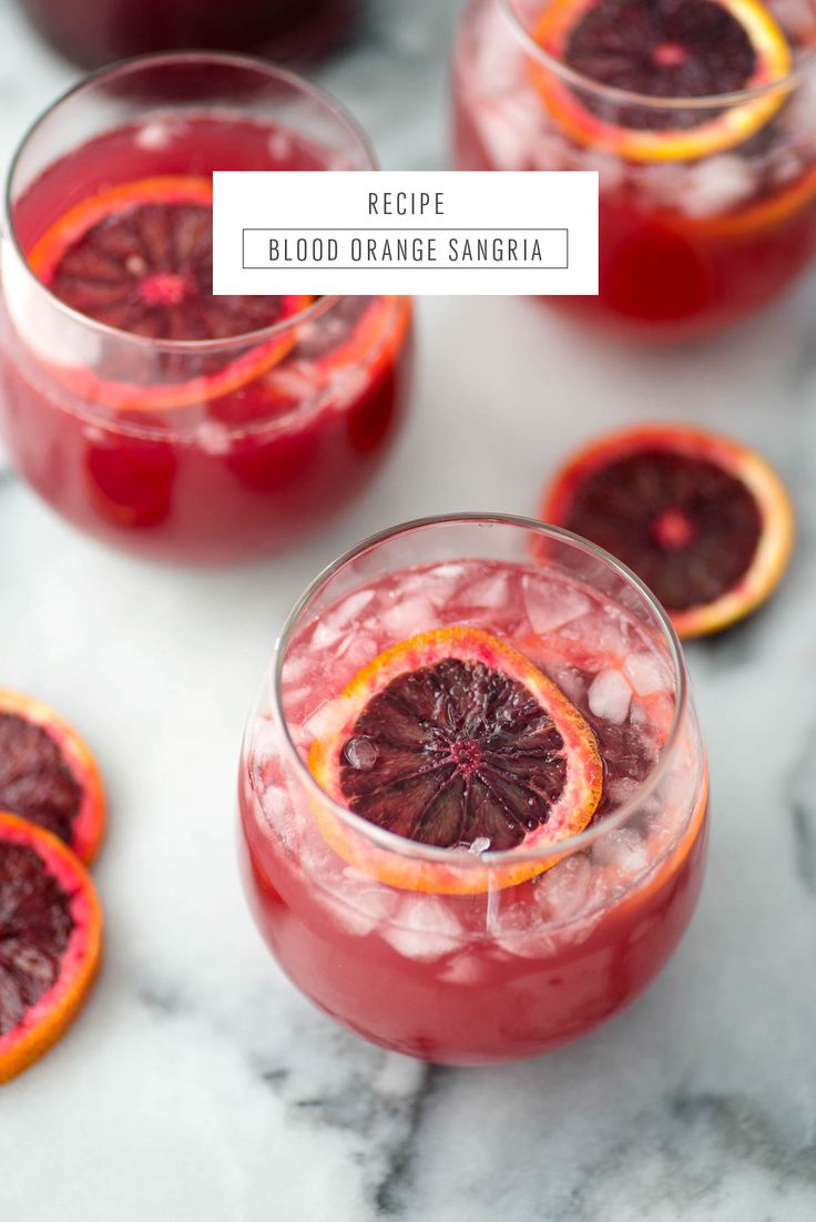 Blood orange sangria recipe by Sugar & Cloth, an award winning DIY and recipe blog.