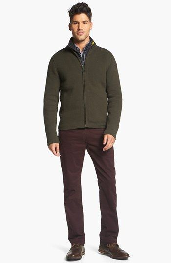 Victorinox Swiss Army® Zip Cardigan & J. Brand Pants available at #Nordstrom