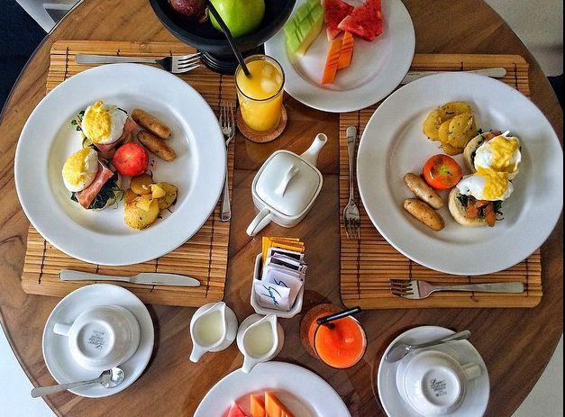 Breakfast in your private pool villa at The Grove Villas & Spa Bali  Email: info@thegrovebalivillas.com