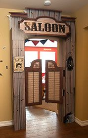 Murder at The Deadwood Saloon Decorations and ideas- also how to make a bar out of picket fence