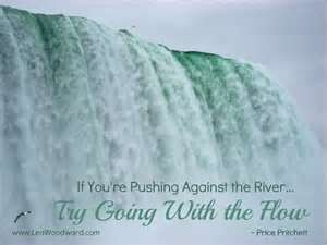 If you're pushing against the river - try going with the flow! http://www.facebook.com/vickismithmedium