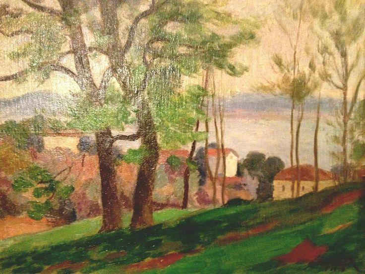@ab_sanatŞeref Akdik - Tuval yağlı boya ; 33 x 41 cm. ; 1948 tarihli #şerefakdik #manzara #peyzaj #peysage #ada #büyükada #absanat #turkey