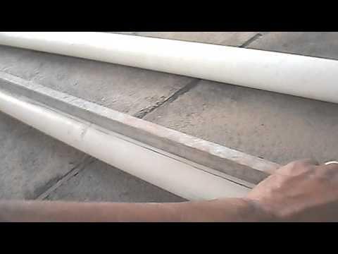 CALHA PARA TELHAS FEITA COM CANOS DE PVC PASSO A PASSO - YouTube