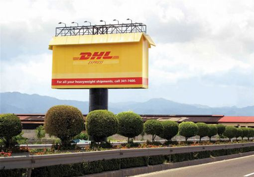DHL box outdoor
