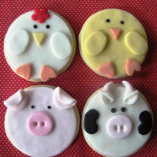 Cute farm cookies!