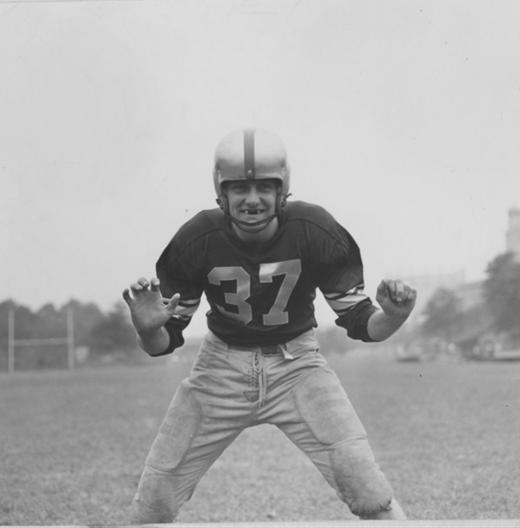 a drexel football player from 1950 vintage drexel