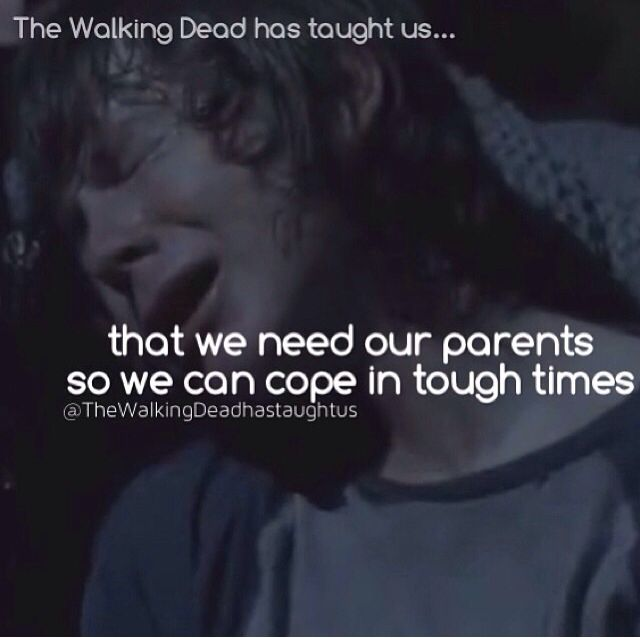 The walking dead has taught us..........