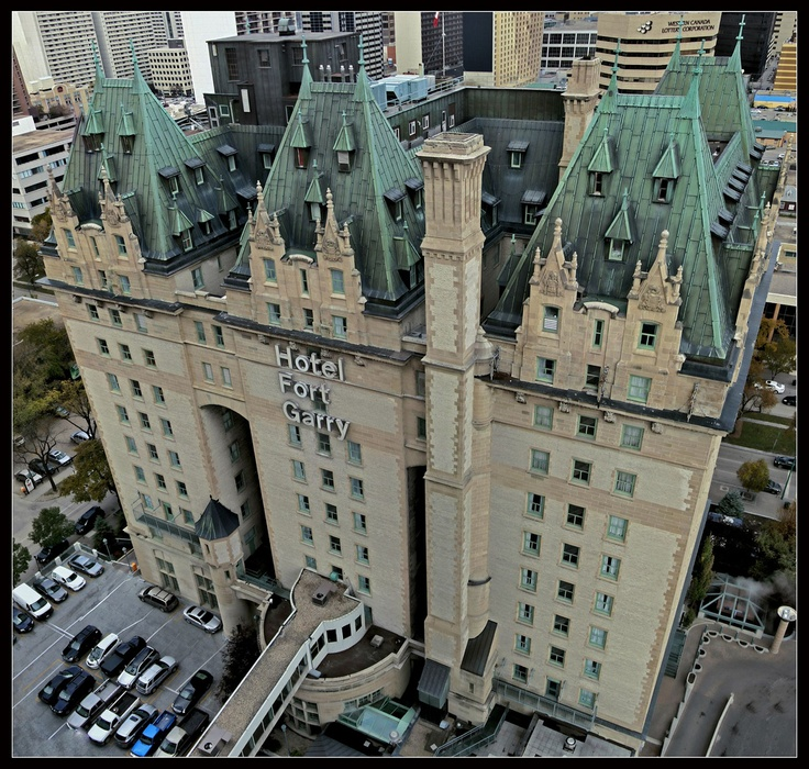 Hotel Fort Garry.  Some say it's haunted.