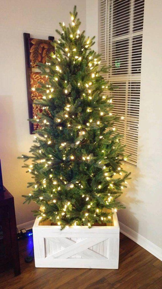 White Christmas Tree Box Replace Your Tree Skirt Christmas Tree Farmhouse Christmas Tree Christmas Tree Box