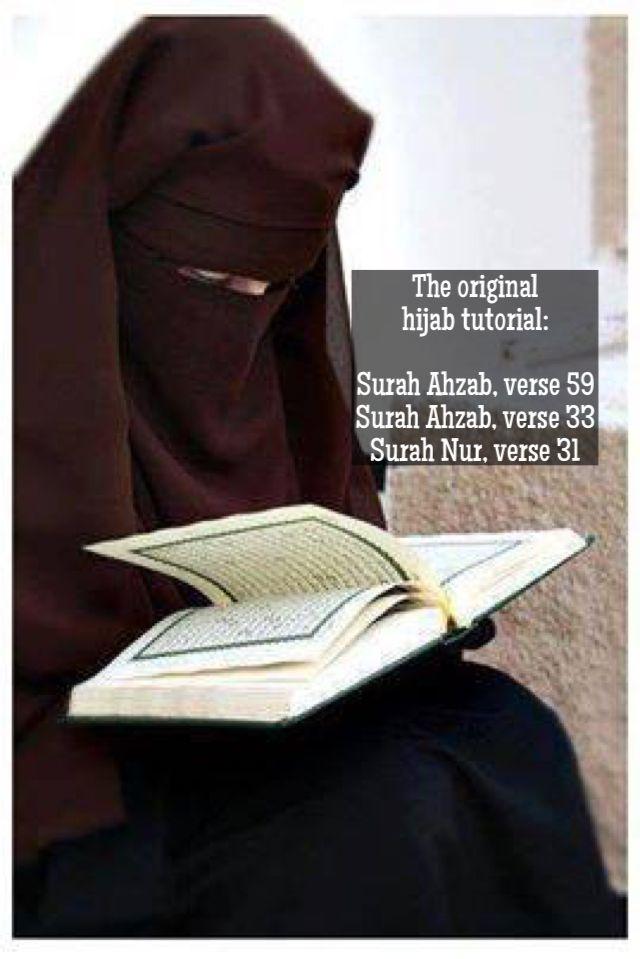 Sayida Fatima bint Muhammad ص demonstrates the correct way to wear hijab.