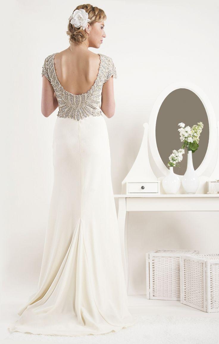 Best back detail slightly too low for normal bra item for Low cut bra for wedding dress