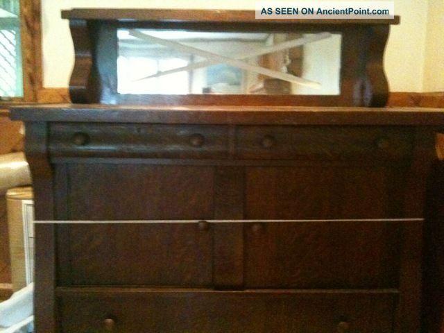 empire style oak sideboard 2