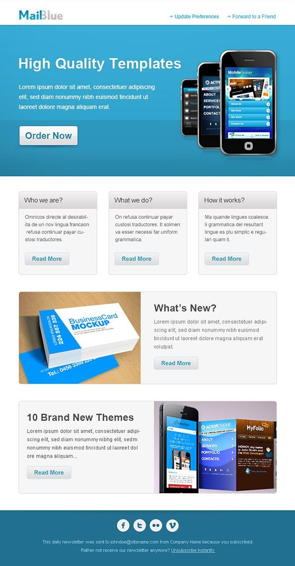 Business Newsletter Clean Business Newsletter V Newsletters - Email brochure template