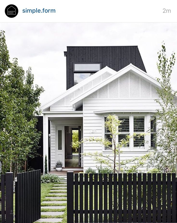 Classic white & black exterior