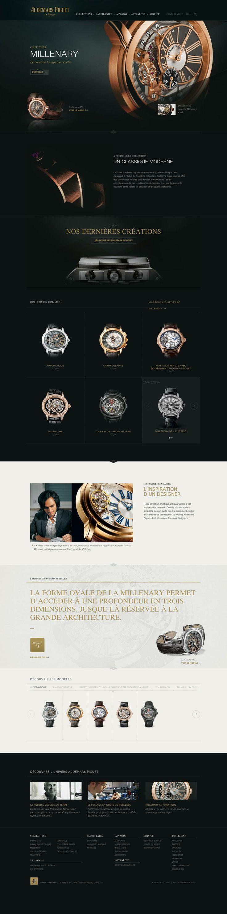 Audemars Piguet website #interface #ui #web #ux