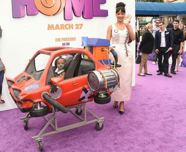 Rihanna with Dreamworks Home Hoover Car