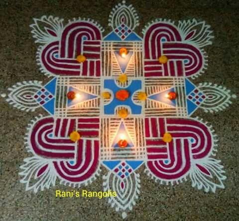 This kind of rangoli gives happines